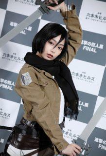 宇垣美里(28)の進撃の巨人のミカサコスが完全にレイヤーww【エロ画像】