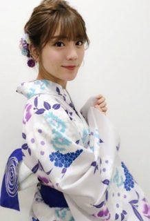 貴島明日香(23)の浴衣姿や着衣ニットがエロいww【エロ画像】