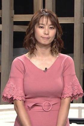 杉浦友紀アナ(36)の着衣爆乳おっぱいが迫力満点でぐうシコww【エロ画像】