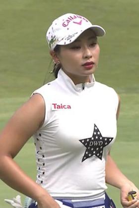 巨乳女子ゴルファー竹内美雪(23)の着衣おっぱいがエロいww【エロ画像】