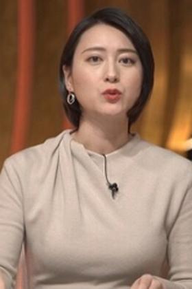 小川彩佳アナ(34)の巨乳化した最新着衣おっぱいがヤバいwww【エロ画像】