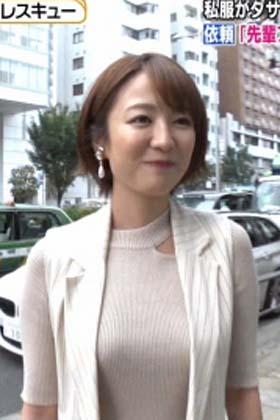 滝菜月アナ(26)の最新着衣ニットおっぱいがエロいww【エロ画像】