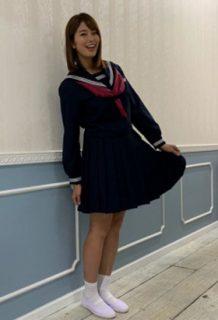 稲村亜美(23)の最新セーラー服コスプレ姿がエロいww【エロ画像】