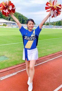 田中萌アナ(28)のチアガール姿がエロいww【エロ画像】