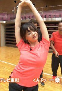 森香澄アナ(24)のおっぱいが気になるダンス姿のGIFがぐうシコww【エロ画像】