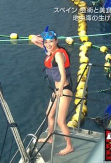 旅サラダガールズ江田友莉亜(26)の水着キャプが食い込んでてぐうシコww【エロ画像】