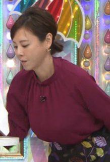 高橋真麻(38)の爆乳おっぱいの乳揺れGIFがコレ・・・迫力満点過ぎて草ww【エロ画像】
