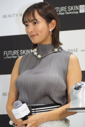 """夏菜さん30歳、重力に逆らえなくなった""""おっぱい""""がコチラ・・・【エロ画像】"""