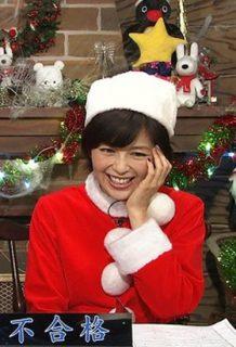 中野美奈子アナ、美熟女好き歓喜!!!サンタコスを見せつけるwww【エロ画像】