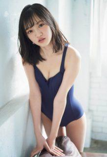 NMB48の小林莉奈がスク水乳寄せグラビアを披露してしまうwww【エロ画像】