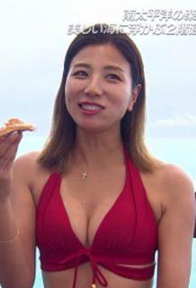 """青木愛さん、旅サラダで見せる""""おっぱい""""がとにかくエロいwww【エロ画像】"""
