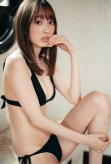 團遥香さん、巨乳おっぱいを水着で完全解禁!!!シコらせ能力高すぎwww【エロ画像】